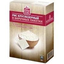 Рис круглозерный, в пакетиках Fine Life, 500 гр., Картонная коробка