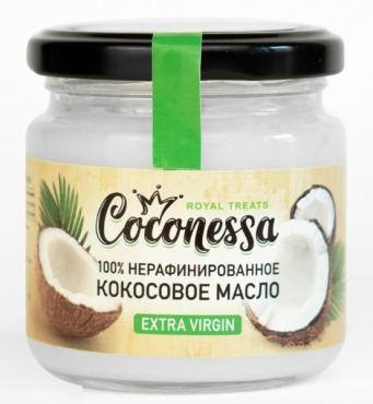 Масло кокосовое нерафинированное 100% Coconessa, 160 гр., стекло