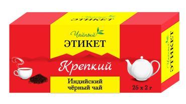 Чай пакетированный Этикет Индийский черный крепкий 25 пак.
