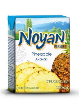 Сок Premium ананасовый, Noyan, 200 мл., тетра-пак
