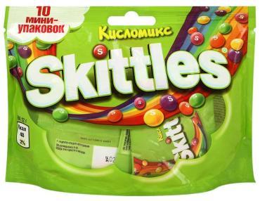 Драже Skittles Кисломикс 10 мини-упаковок