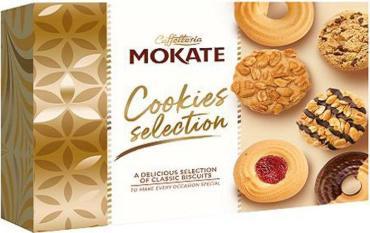 Печенье, сдобное, песочное Ассорти,Mokate, 260 гр., картон