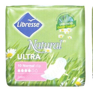 Прокладки Libresse Natural Care Ultra Normal 10шт