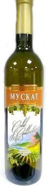 Вино Минераловодский ВЗ Мускат столовое полусладкое белое 10-12%