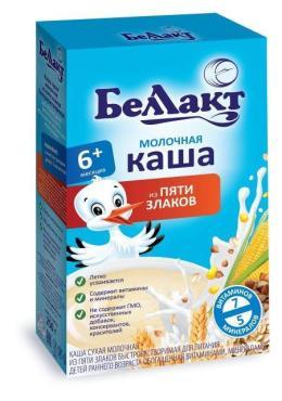 Каша молочная из пяти злаков, Bellakt, 250 гр., картонная коробка