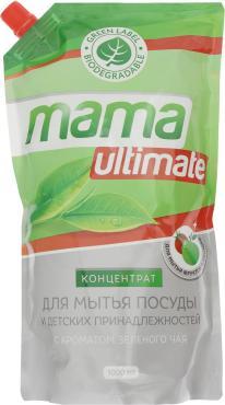 Средство для мытья посуды и детских принадлежностей Mama Ultimate с ароматом зеленого чая Концентрат