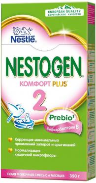 Смесь Nestogen 2 Комфорт PLUS адаптированная с пребиотиками и пробиотиками для детей с 6 месяцев