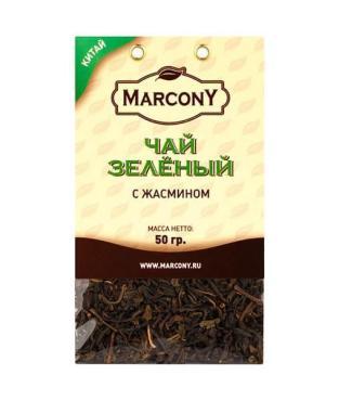 Чай зеленый Marcony с жасмином листовой