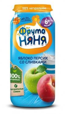 Пюре Фрутто Няня персик со сливками