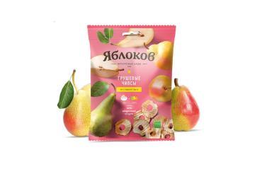 Чипсы Грушевые, Яблоков, 25 гр, флоу-пак