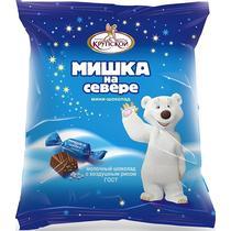 Конфеты Крупской Мишка на севере шоколадные с воздушным рисом мини