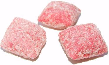 Карамель Красный Октябрь Желейная вкус клубничного йогурта в сахаре
