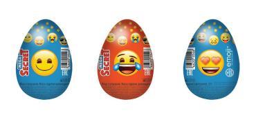 Шоколадное яйцо Сладкая Сказка Emoji с игрушкой