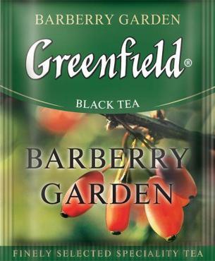 Чай Greenfield Barberry Garden черный 100 пак.
