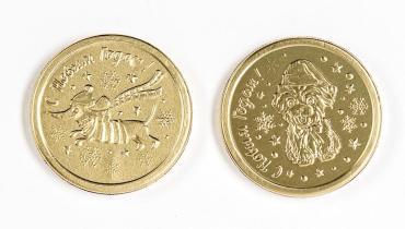 Шоколад МОК-производство Медаль смурфики