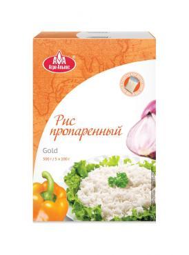 Рис Агро-Альянс Gold пропаренный в пакетиках для варки