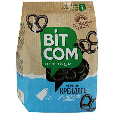 Крендель черный с морской солью Bitcom  ОЗБИ, 250 гр., флоу-пак