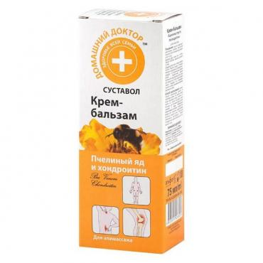 Крем-Бальзам для тела Эльфа Домашний Доктор Пчелиный яд и хондроитин
