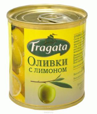 Оливки Fragata с лимоном