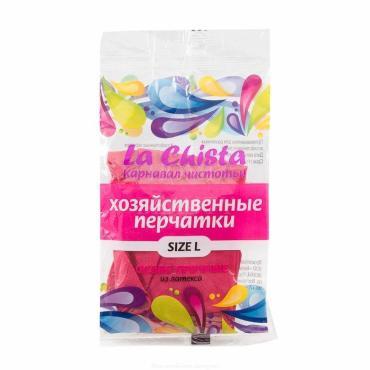 Перчатки La Chista хозяйственные особо прочые резиновые с напылением L