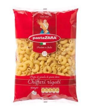 Макаронные изделия Pasta Zara Chifferi rigati №55, 500 гр., флоу-пак