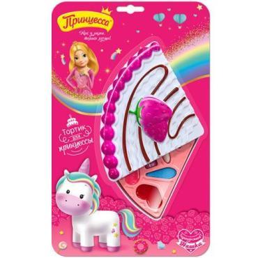 Набор подарочный (блеск для губ + тени для век + губная помада + спонж), Принцесса Тортик для принцессы, 125 гр., Блистер