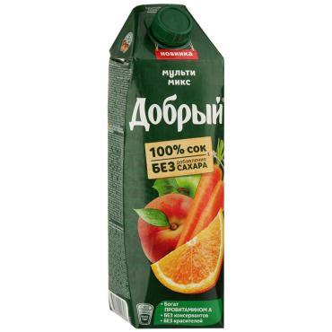Сок Добрый Мульти микс Яблоко апельсин персик морковь