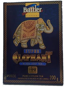 Чай черный, Battler Супер слон Пекое, 200 гр., картонная коробка