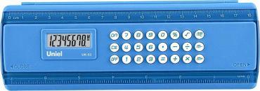 Калькулятор-пенал синий UK-53B, Uniel, 160 гр., картонная коробка