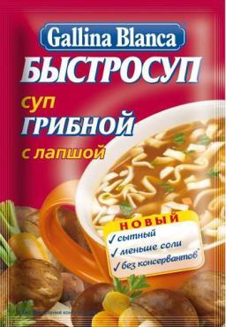 Галина Бланка Быстросуп грибной с лапшой 15гр 1/24