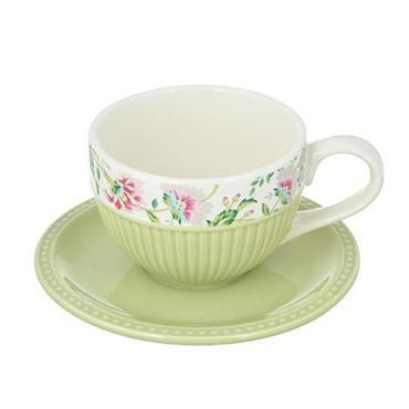 Набор чайный Millimi Шарм 2 предмета чашка 14х10,5х7 см. 330 мл., блюдце 15,5 см. керамика