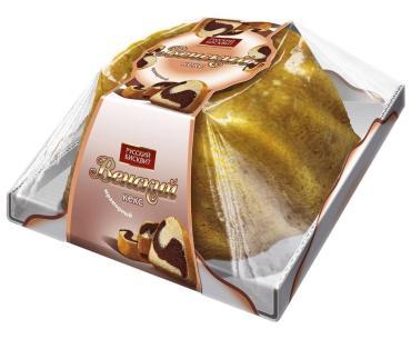 Кекс мраморный Венский Русский бисквит, 350 гр., пластиковая упаковка