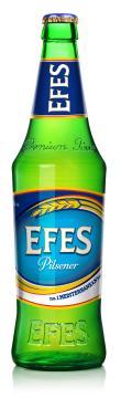 Пиво Effes Pilsener светлое пастеризованное фильтрованное в стекле 5%, 450 мл