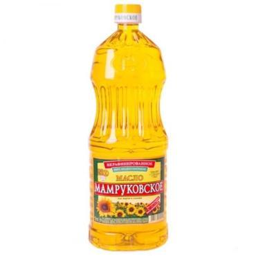 Масло подсолнечное Мамруковское нерафинированное