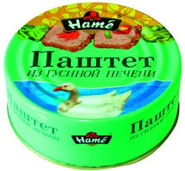 Паштет Hame из гусиной печени, 250 гр., ж/б