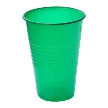 Стакан 200 мл., зелёный, ПП 100 шт/уп., 4000 шт/кор., Диапазон, пластиковый пакет