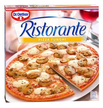 Пицца Dr.Oetker Ristorante с шампиньонами замороженная, 365 гр., картон