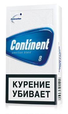 Сигареты с фильтром Continent № 8, картонная пачка