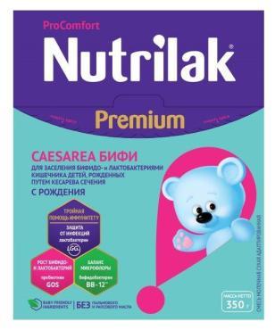 Молочная смесь с 0 месяцев Nutrilak Premium Caesarea бифи, 350 гр., картонная коробка