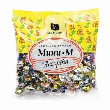 Карамель леденцовая ассорти Мини-М, 180 гр., флоу-пак