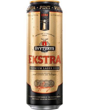 Пиво Svyturys Ekstra светлое пастеризованное фильтрованное 5,2%