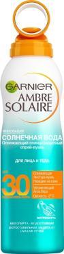 Спрей-вуаль для лица и тела Garnier Ambre Solaire Солнечная вода с алоэ вера SPF30