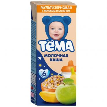 Каша Тёма мультизерновая Яблоко банан молочная 2,2% с 6 месяцев