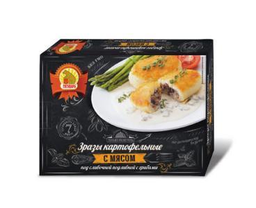 Зразы Государь картофельные с мясом под сливочной подливкой с грибами, 300 гр., картон