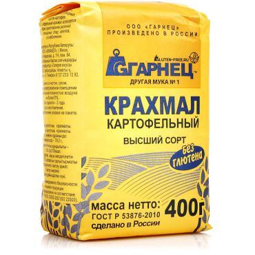 Крахмал Гарнец картофельный без глютена, 400 гр., бумажная упаковка