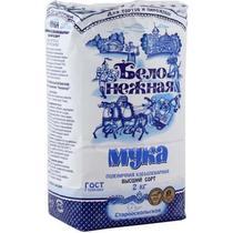 Мука Бело-Нежная пшеничная хлебопекарная высший сорт
