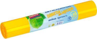 Пакеты для мусора Avikomp Prestige Двухслойные, 120л. 10шт. желтые