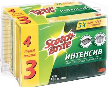 Губка для посуды Scotch-Brite Интенсив Формованная