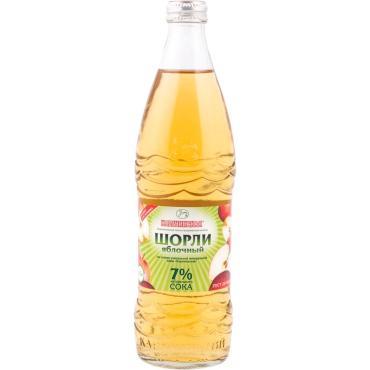 Газированный напиток Карачинский источник Шорли на основе минеральной питьевой воды с добавлением яблочного сока 7%