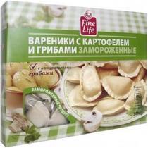 Вареники Fine Life с картофелем и грибами замороженные